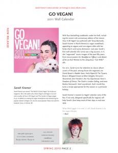 Go Vegan 2011 Calendar
